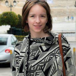 Kriszta studies in an art school in Romania.